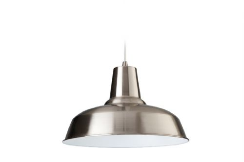 Firstlight 8623BSWH Brushed Steel with White Inside Smart Pendant